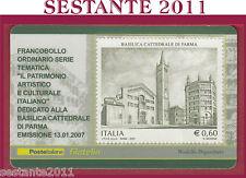 TESSERA FILATELICA FRANCOBOLLO BASILICA CATTEDRALE DI PARMA 2007 L4