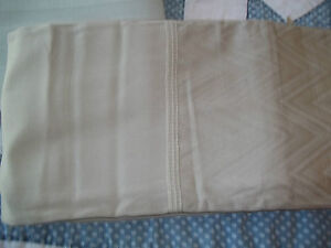 "FABRIC SHOWER CURTAIN  CALL ( SUMMIT STRIPE) TAN/SAND COLOR 70"" X 72""  NWT"