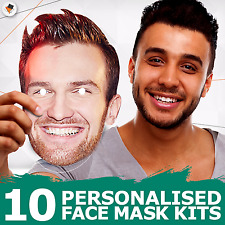 10 Personalised Photo Face Masks Party Accessory Hen Parties Stag Birthdays