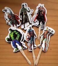"Cupcake Toppers ""Super-Heroes"" Muffins-Deko 24 Stück - Kindergeburtstag Jungen"