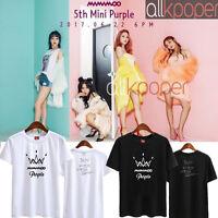 KPOP MAMAMOO T-shirt Purple Album Tshirt Hwa Sa Tee Whee In Solar Tee Moon Byul