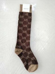 Women's cotton Dark brown socks design one size