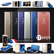 Etui housse coque Miroir View Mirror Case Samsung Galaxy S7 edge Note 8 S8 S8+