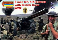 Strelets Models 1/72 BRITISH WWII 6 INCH Mk.XIX CANNON WITH CREW Figure Set