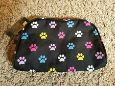 Pawprint Zippered Cosmetic Bag