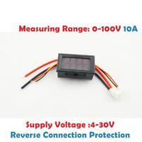 0-100V 10A Digital LED Voltmeter Amperemeter Spannungsmesser Strommesser Volt
