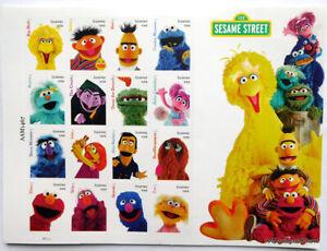 Sesame Street Forever Stamps Big Bird Elmo Oscar Grover USPS postage 16 NEW