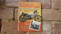 OLD MOTORCYCLE MAGAZINE, CYCLE WORLD NOV 1974 YAMAHA RD350B, HONDA ELSINORE 125