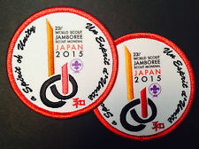 23rd world scout jamboree set of 2 official PARTICIPANT badges 2015