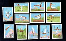 Gymnastic Sports & Art Nestle 1938 Stamp Card Set Gym Athlete Bars Rings Horse