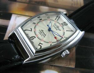 Mens Automatic Watch Mechanical Leather Band Date Sports Self-winding Wristwatch