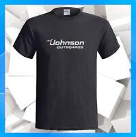 Johnson Outboards Logo Boats Motors NEW Men's Black T-Shirt S M L XL 2XL 3XL