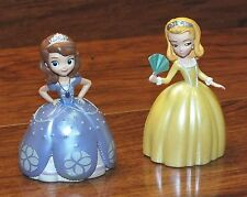 """*Set of 2* Walt Disney Princesses In Purple & Yellow 3"""" Inches Tall Figurines!"""