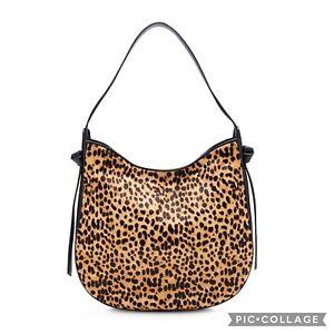 J. Crew Leopard Calf Hair Hobo Bag NWT $378