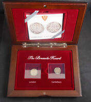 "1268, England, Henry III. ""Brussels Hoard"" Long-Cross-Pennies Set w. Box & COA!"