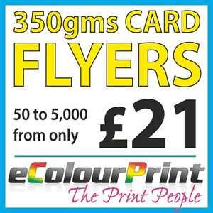 Card Flyers / Leaflets, 350gms Board Printed Full Colour A3, A4, A5, A6, A7, DL