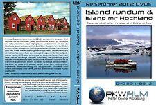 Island DVD + Island mit Hochland DVD, rundum & quer durch Reiseführer auf 2 DVDs