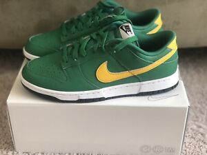 New Nike Dunk Low Custom 365 By You Green / Yellow Athletics / Brazil Size 9.5