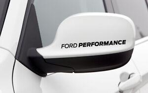 4x FORD PERFORMANCE Side Mirror Decal Sticker Badge Emblem Logo SET OF 4