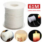 1 Roll 61m Cotton Wick Candle Core Environmental Spool Kit for Candle Making xs