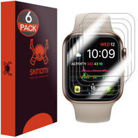 6x Skinomi Clear Screen Protector for Apple Watch Series 4 (40mm)[Slim Design]