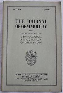 The Journal of Gemmology - April 1973, Vol 13 No 6 Imitation Pearls, Obsidian