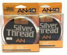 2 Spools Of Silver Thread An 40 Copolymer Fishing Line 25Lb/250Yd Silver