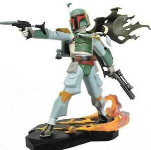 STAR WARS BOBA FETT ANIMATED MAQUETTE STATUE  FIGURINE CLONE Gentle Giant Bust