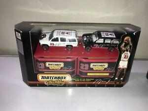 Michael Jordan Chicago Bulls NBA Matchbox Collectibles 1999 Chevy Tahoe 2 Cars