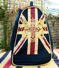 Royal Crest Union Jack Boot / Shoe Bag with waterproof lining and sturdy handle
