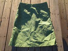 Boden ~ Women's Green Yellow Retro Floral Skirt ~ Size 12