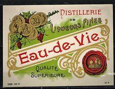 Etiquette - Chromo - Distillerie De  Liqueurs Fines - Eau de Vie - Réf.n°38