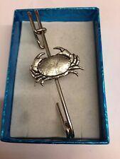 "Crab PP-SS02 Pewter Emblem Kilt Pin Scarf or Brooch 3"" 7.5 cm"