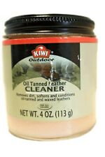 OIL TANNED LEATHER CLEANER by KIWI for Leather SADDLES Boots for All Colors NEW