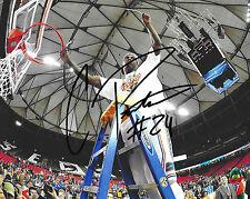 Florida Gators #24 CASEY PRATHER Signed Autographed Basketball 8x10 Photo COA
