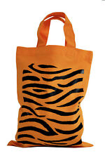 SINGLE. PARTY/GIFT BAG (Small): TIGER PRINT 100% cotton. Orange