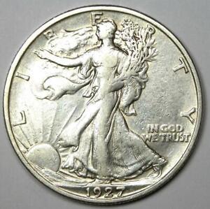 1927-S Walking Liberty Half Dollar 50C Coin - XF Details - Rare Date!