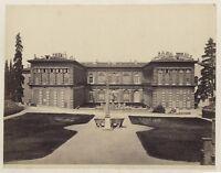 Florence Palais Pitti Giardino Italia Fotografia Vintage Albumina c1880