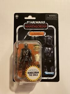+++ Hasbro Star Wars Vintage Collection DIN DJARIN THE CHILD VC177 IN HAND