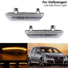 Dynamic Clear LED Side Mirror Light Indicator For VW Golf MK5 GTI Plus Variant