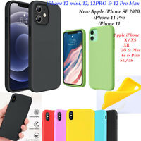 MATT SOFT SILICONE SKIN BACK CASE COVER FOR iPhone 12 mini PRO 11 SE Xs XR 8/7/6