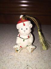 Lenox Teddy Bear Porcelain Christmas Ornament in Original Box New In Box