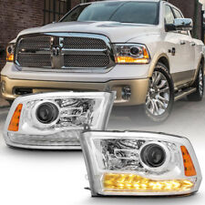 Factory Chrome 2013-2017 Dodge Ram 1500 2500 3500 Projector Headlights Headlamps