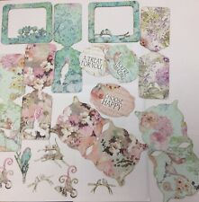 FLORAL PAPER DIE CUT OUT x30 piece card craft scrapbook Embellishment topper
