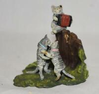Vienna Bronze Miniature Courting Cats Figurine