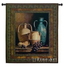 45x53 JUGS ON A LEDGE Grapes Vase Tapestry Wall Hanging