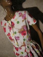 CHIC VINTAGE ROBE 1950 ZAZOU VTG DRESS 1950s KLEID 50er ABITO ANNI 50 (36/38)