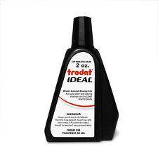 Trodat Ideal Self Inking Or Stamp Pad Refill Ink 2 Oz Bottle Black