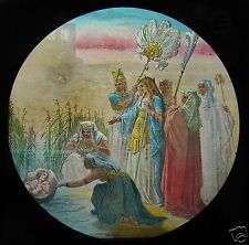 Glass Magic Lantern Slide THE FINDING OF MOSES C1900 DORE BIBLE RELIGION