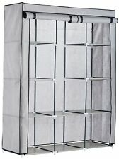Argos Home Double Modular Fabrics Wardrobe - Grey and Black